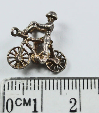 Sterling Silver Cyclist Charm