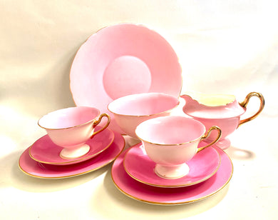 Pink Shelly Tea-set for Two