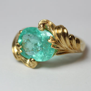 18ct Yellow Gold 5ct Paraiba Tourmaline Cocktail Ring