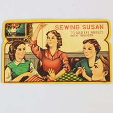 "Original Vintage Printed ""Sewing Susan"" Needle Case"