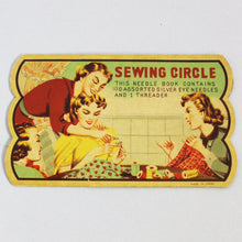"Original Vintage Printed ""Sewing Circle"" Needle Case"