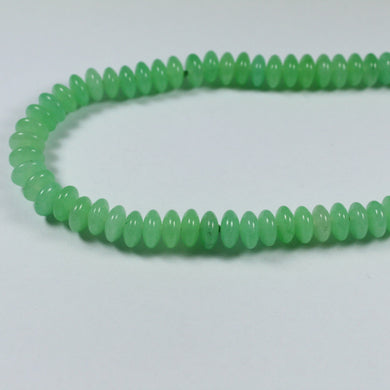 Chrysoprase Green beaded Necklace 84cm in length
