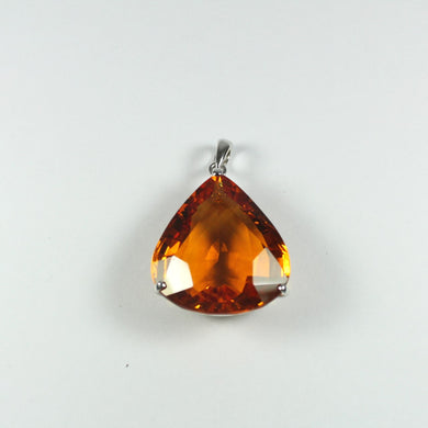 Sterling Silver Pear Cut Citrine Pendant