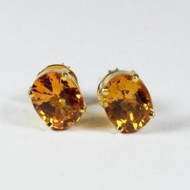 14ct Yellow Gold Citrine Stud Earrings