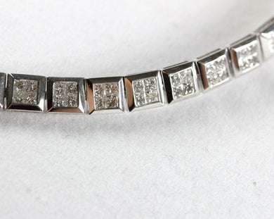 14ct White Gold 5.6ct Diamond Tennis Bracelet