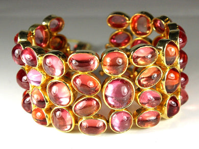 Sterling Silver Gold Plate Synthetic Tourmaline Bracelet