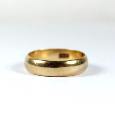 Antique 18ct Rose Gold Mens Wedding Band