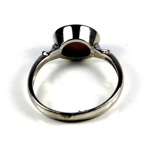 9ct White Gold Semi Black Opal Ring