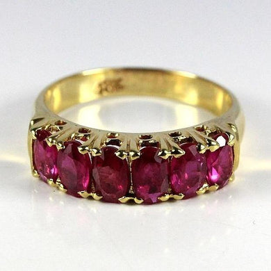 18ct Yellow Gold Ruby Bridge Ring