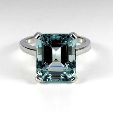 9ct White Gold 10ct Aquamarine Dress Ring