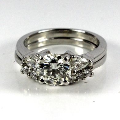 18ct White Gold Diamond Ring and Wedding Band