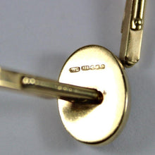 9ct Yellow Gold Banded Crystal Cufflinks