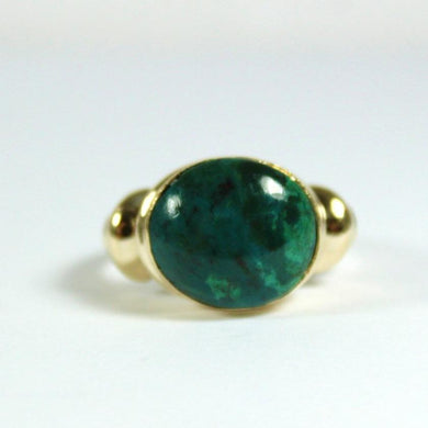 9ct Yellow Gold Azurite Ring