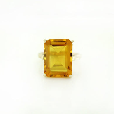 9ct Yellow Gold Yellow Citrine Cocktail Ring