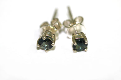 Green Sapphire Sterling Silver Earrings