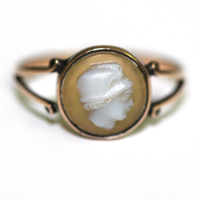 Antique 9ct Yellow Gold Conch Shell Cameo Ring