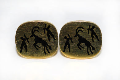 Vintage Cave Painting Cufflinks