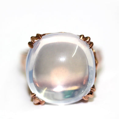 9ct Rose Gold Moonstone Dress Ring