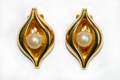 Faux Pearl Vintage Clip-on Earrings