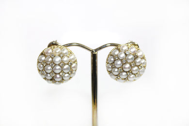 Pearl Diamond 9ct Gold Earrings