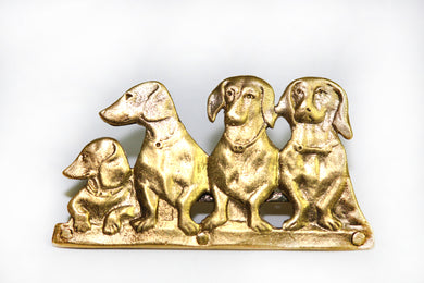 Daschund Brooch 9ct Gold
