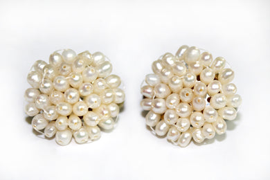 Natural Pearl Clip-on Earrings