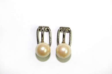 Hardy Brother's Pearl Sterling Silver Clip-on Earrings