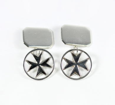 Sterling Silver Masonic Cross Cufflinks