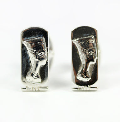 Sterling Silver Nefertiti Cufflinks