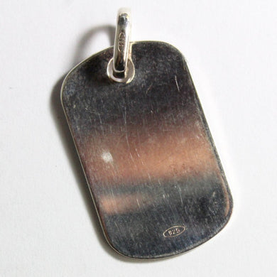 Large Mens Sterling Silver Tag