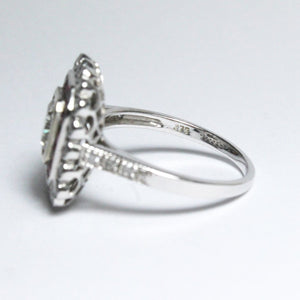9ct White Gold 1.02ct Cushion Cut Diamonds and Diamond Cocktail Ring