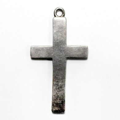 Heavy Sterling Silver Crucifix Pendant