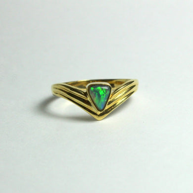 18ct Yellow Gold Opal Ring