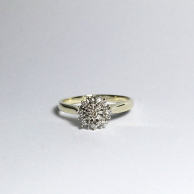 9ct Yellow Gold Fancy Cut Diamond Cluster Ring
