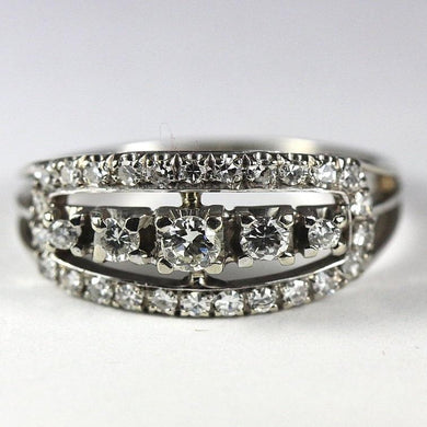 18ct White Gold Contemporary Diamond Ring