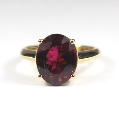 9ct Yellow Gold Mulberry Tourmaline Ring