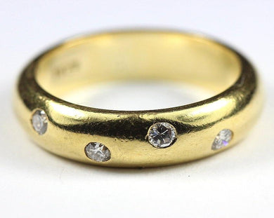 18ct Yellow Gold Diamond Wave Band
