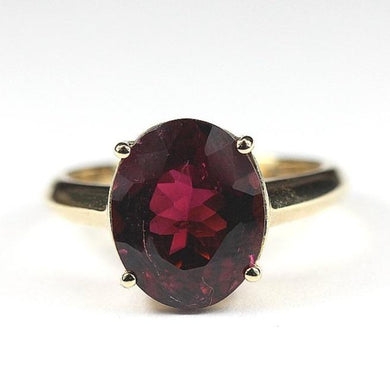 9ct Yellow Gold 3ct Mulberry Tourmaline Ring (V)