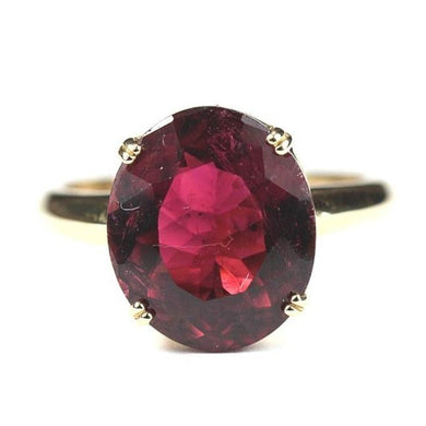 9ct Yellow Gold 6.55ct Mulberry Tourmaline Ring