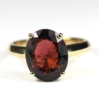 9ct Yellow Gold 5.10ct Mulberry Tourmaline Ring (V)