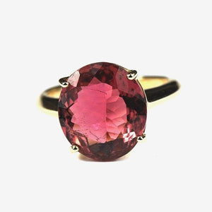 9ct Yellow Gold Tourmaline Ring (V)