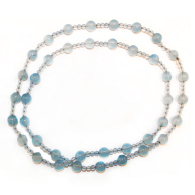 Sterling Silver Blue Chalcedony Beaded Necklace