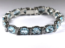 Sterling Silver Topaz and Cubic Zirconia Bracelet