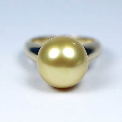 9ct Yellow Gold Golden South Sea Pearl Dress Ring