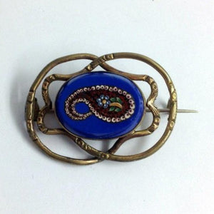 Antique Micro-Mosaic Brooch