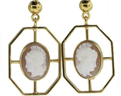 9ct Cameo Earrings