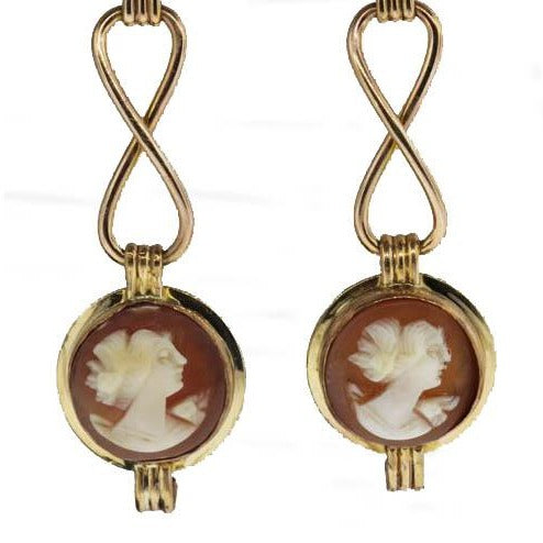 9ct Victorian Cameo Earrings