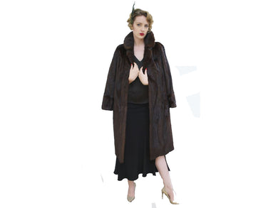 Vintage Rare Black Mink Fur Coat
