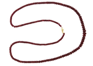 Natural Pidgeon Blood Faceted Ruby Strand Necklace