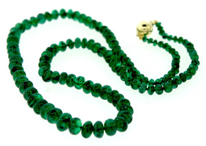 Natural Beaded Columbian Emerald Strand